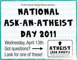 Ask-An-Atheist Day Poster
